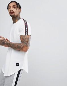 Белая футболка с полосами по бокам Sixth June - Белый