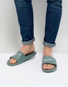 Зеленые шлепанцы Nike Kawa 832528-301 - Зеленый