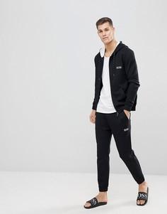 Куртка на молнии с капюшоном BOSS - Черный