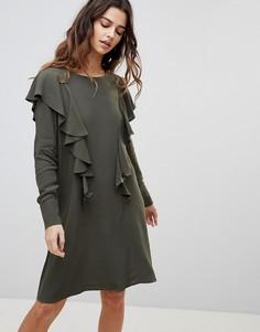 Платье с оборками Y.A.S Gina - Зеленый