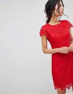 Кружевное платье миди Forever New - Красный