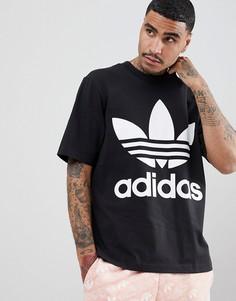 Черная свободная футболка adidas Originals adicolor CW1211 - Черный