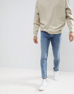 Состаренные джинсы скинни Lee Luke - Синий