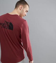 Бордовый лонгслив с логотипом на спине The North Face эксклюзивно для ASOS - Красный