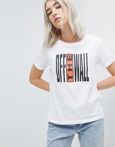 Футболка с принтом-логотипом Vans Off The Wall - Мульти