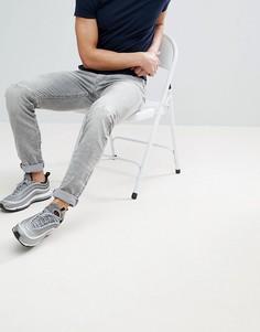 Суженные книзу рваные джинсы Diesel DNA - Серый