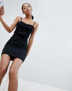 Платье мини на бретельках Lasula - Черный