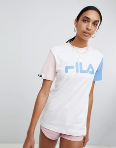 Oversize-футболка в стиле колор блок Fila - Мульти