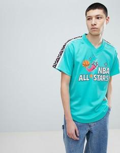 Зеленая сетчатая футболка Mitchell & Ness NBA All Stars - Зеленый