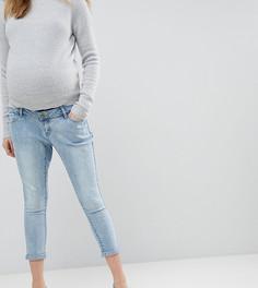 Джинсы бойфренда для беременных со съемной вставкой Bandia Maternity - Синий