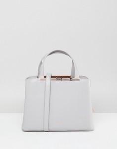 Кожаная сумка-тоут Ted Baker - Серый