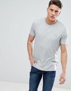 Светло-серая футболка с маленьким логотипом HUGO - Серый