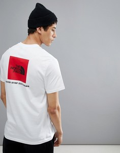 Белая футболка с принтом на спине The North Face Red Box - Белый