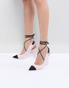 Розовые туфли на каблуке с ремешком на пятке и вокруг щиколотки ALDO - Розовый