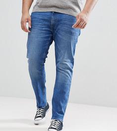 Выбеленные джинсы скинни Lee PLUS Luke - Синий