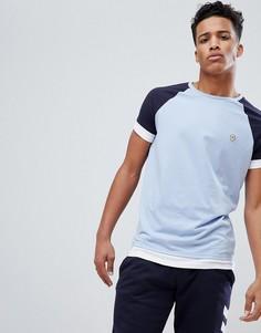 Двухслойная футболка с рукавами реглан Le Breve - Синий