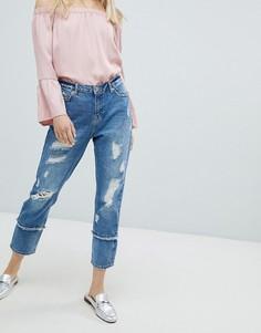 Потертые прямые джинсы Only - Синий