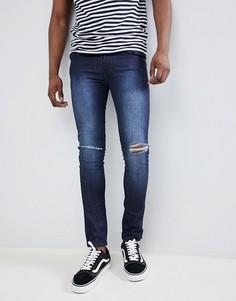 Темные джинсы скинни с рваной отделкой Loyalty and Faith Siret - Синий