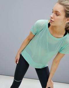 Укороченная футболка мятного цвета Asics - Зеленый