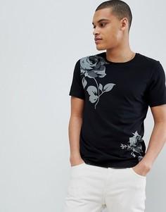 Премиум-футболка с цветочным принтом Jack & Jones - Черный