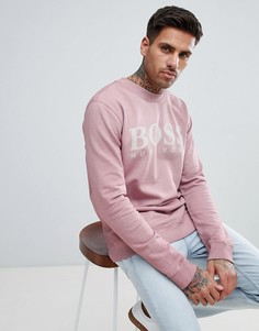 Розовый свитшот с круглым вырезом BOSS - Розовый