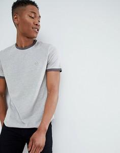 Обтягивающая футболка в рубчик Le Breve - Серый