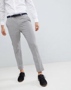 Укороченные брюки в винтажную клетку River Island - Кремовый