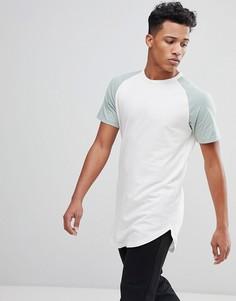Длинная футболка с рукавами реглан Jack & Jones Originals - Белый