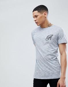 Длинная эластичная футболка Another Influence - Синий