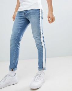 Синие джинсы скинни с отделкой лентой Criminal Damage - Синий