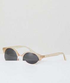 Солнцезащитные очки в стиле ретро с блестками AJ Morgan - Очистить