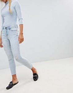 Серебристые джинсы с прорехами JDY - Синий