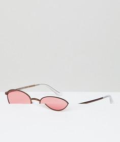 Розовые круглые солнцезащитные очки Vogue Eyewear by Gigi Hadid - Розовый
