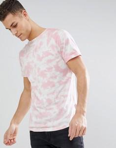 Футболка с принтом облаков Bellfield - Розовый