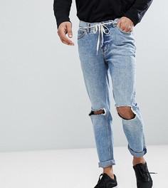 Узкие джинсы с дырками на коленях Cheap Monday TALL Sonic - Синий