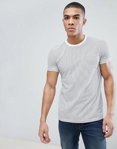 Белая футболка в полоску Esprit Organic - Белый