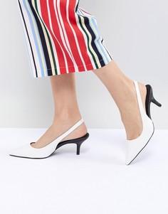 Белые туфли на каблуке-рюмочке Steve Madden Marks - Белый