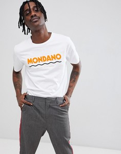 Футболка с крупным логотипом Wood Wood Mondano - Белый