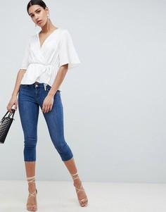 Синие джинсы скинни с заниженной талией ASOS DESIGN Whitby - Синий