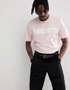 Розовая футболка Carhartt WIP College - Розовый