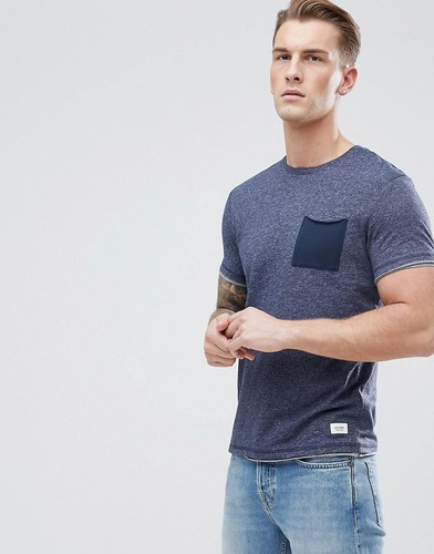 Футболка с контрастным карманом Esprit - Темно-синий