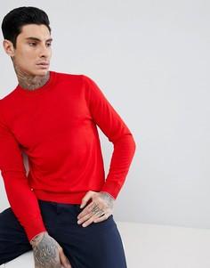 Красный джемпер из мериносовой шерсти с круглым вырезом PS Paul Smith - Красный