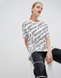 Oversize-футболка бойфренда с принтом House Of Holland - Белый