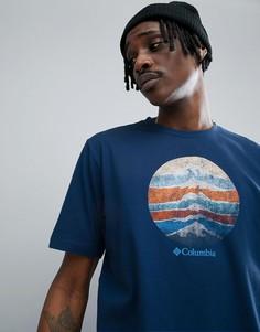 Темно-синяя футболка с логотипом Columbia Mountain Sunset - Темно-синий