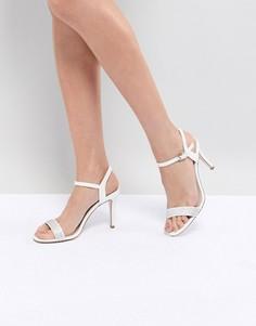 Туфли на каблуке с ремешками и блестками Coast - Белый
