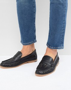 Темно-синие плетеные туфли Frank Wright - Темно-синий