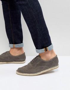 Серые замшевые эспадрильи на шнуровке Frank Wright - Серый