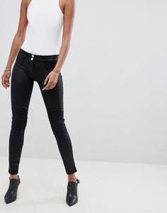 Укороченные байкерские джинсы с покрытием и моделирующим эффектом Freddy WR.UP - Черный