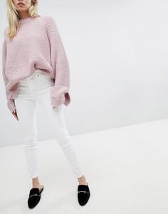 Белые джинсы скинни с завышенной талией New Look - Белый