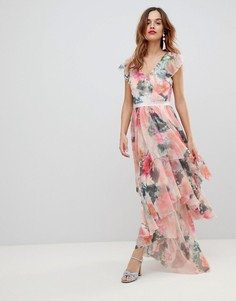 Платье макси с цветочным принтом Y.A.S - Мульти